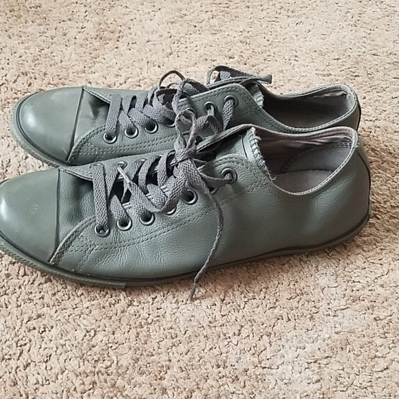 6630fca0b6d1 Converse Other - Men s leather converse gray size 10